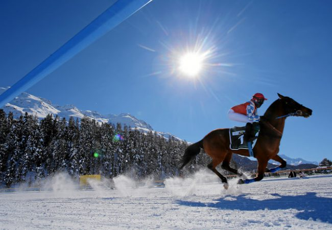White Turf St. Moritz – horse racing on snow